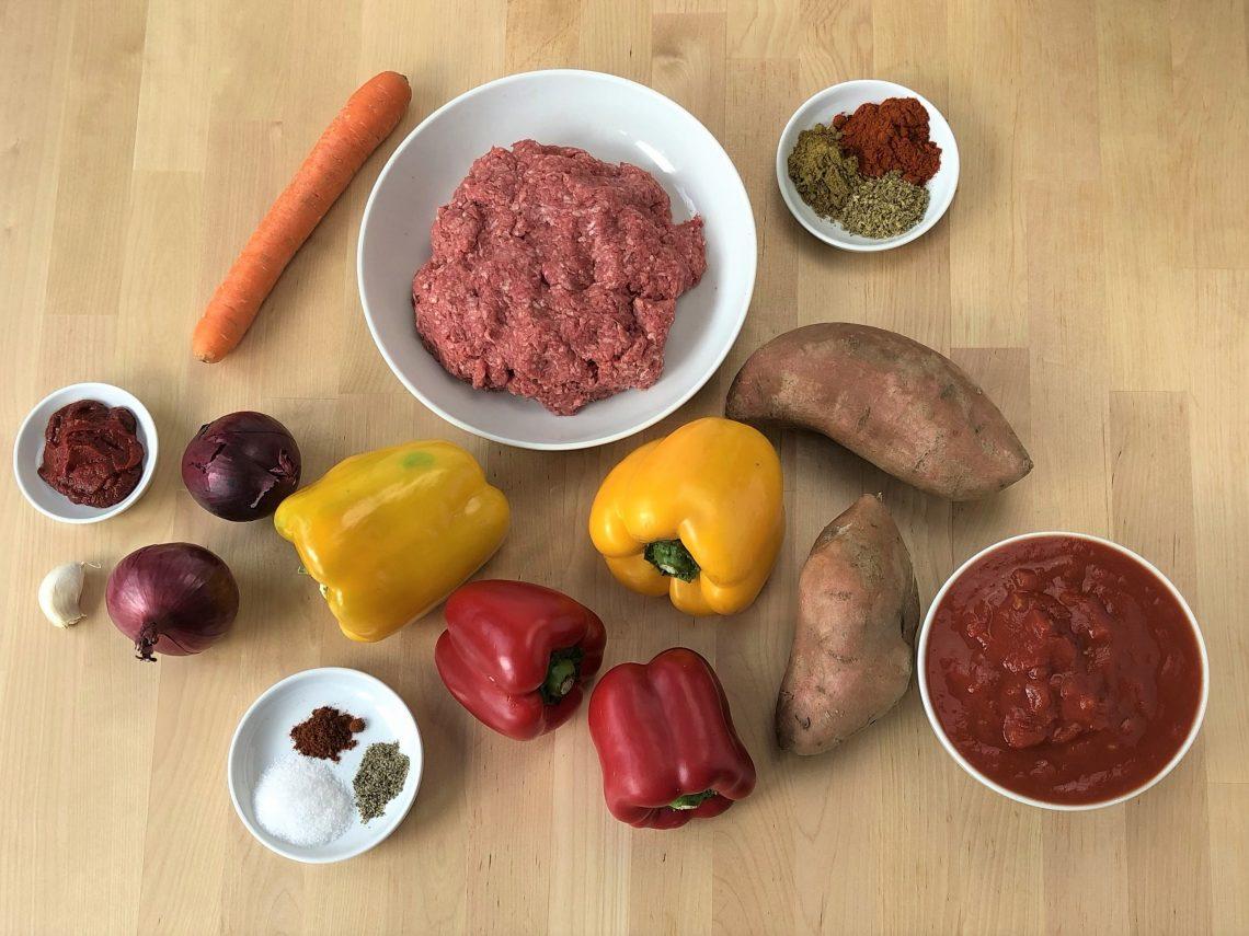 chili con carne mit suesskartoffeln paleo