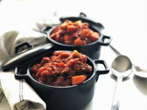chili con carne mit suesskartoffeln - paleo