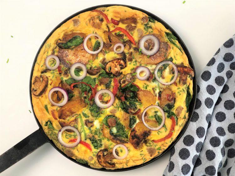 Frittata ein köstliches Omelette nach italienischer Art