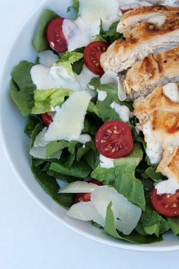 Casars Salad mit Hähnchen und köstlichem Dressing - kleingenuss - Rezept - foodblog