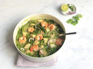 Grünes-Fischcurry-Garnelen-Kokosmilch-Currypaste-Curry-lecker-einfach-schnell-gesund-lowcarb-eiweißreich-proteinreich-keto