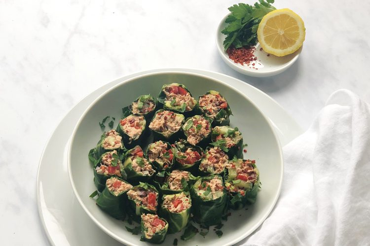 Thunfischwraps-Salatwraps-Mangold-Thunfisch-Wraps-ohne Getreide-lowcarb-paleo-gesund