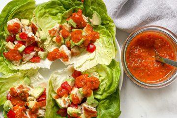 Salsasauce-Salsa-Tomatensauce-Tomaten-Tomatensoße-Rezept-einkochen-konservieren-weckgläser-für den Vorrat-paleo-low carb-ketogen-keto-diät rezepte-diät-kalorienarm-low fat